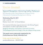 Bazerman Fellows Celebration Invitation 2019